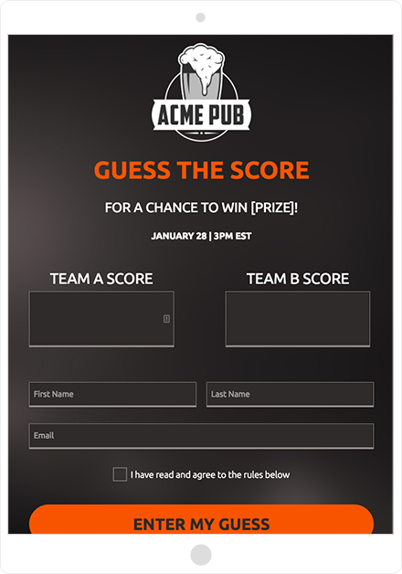 ShortStack's Guess the Score template