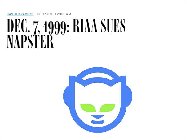 Napster was a music file-sharing service that got sued by the Recording Industry Association of America for copyright infringement.