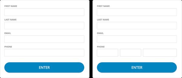 Single input phone field vs three inputs