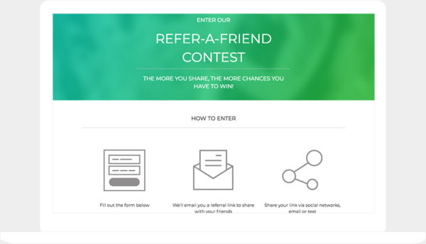 ShortStack's Refer-a-Friend template
