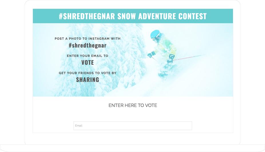 Instagram hashtag Vote Contest