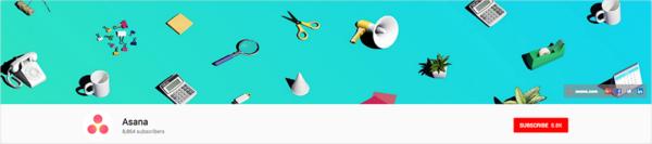 Asana's YouTube banner