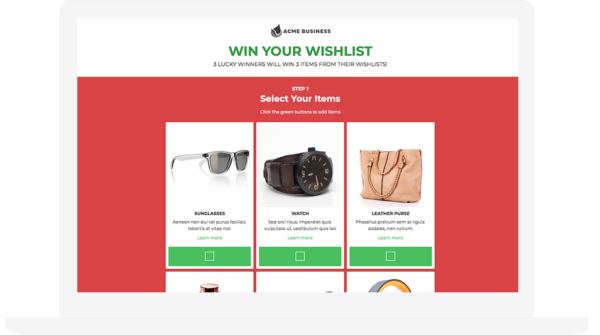 Win Your Wishlist Template