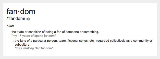 fandom definition