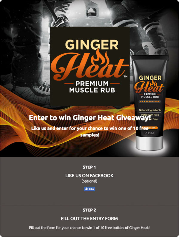 Giveaway requesting an optional Facebook like