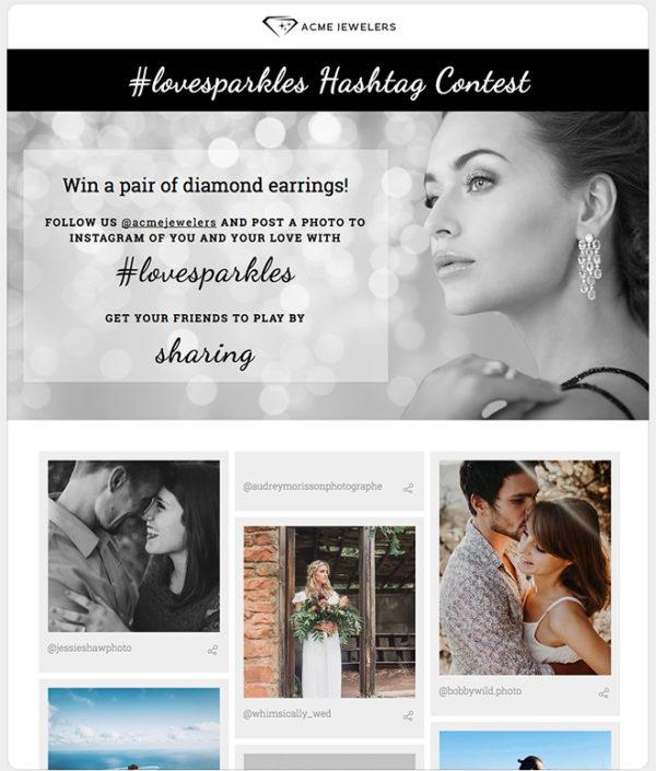 ShortStack's Instagram Hashtag Contest template