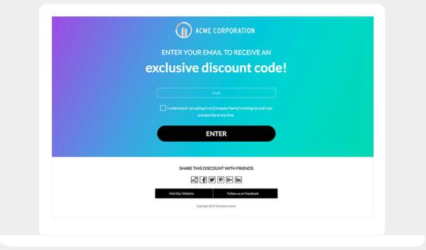 ShortStack's Reveal Hidden Discount template