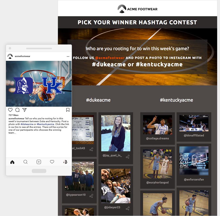 hashtag winner contest on instagram