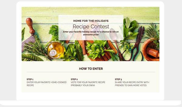 ShortStack's UGC Recipe Contest template