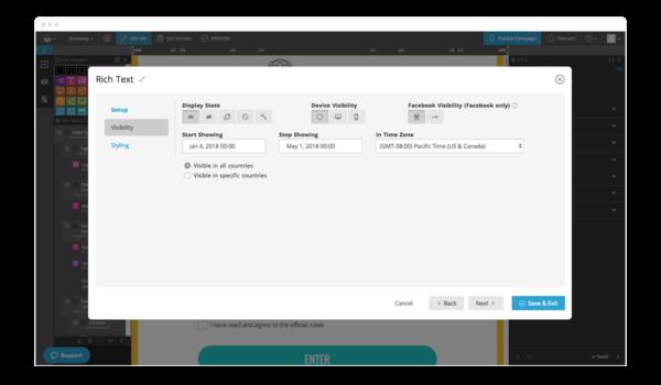 Martetking Automation Visibility Settings