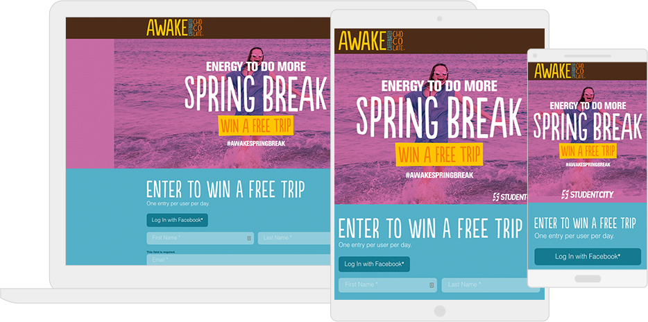 Awake's Spring Break giveaway