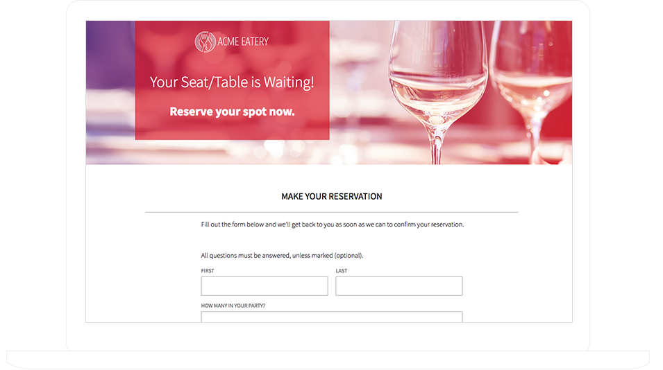 Reservation Template