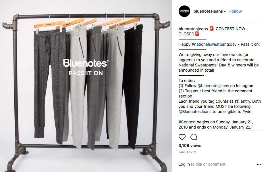 Bluenotes' Jeans celebrated National Sweatpants Day