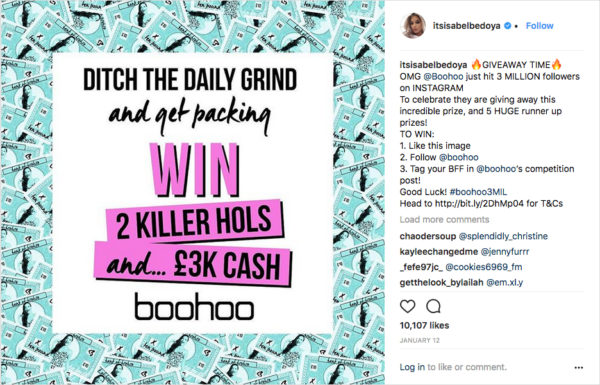 boohoo Clothing Acknowledges Followers