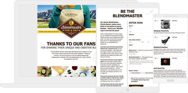 "Celestial Tea's ""Blendmaster"" campaign"