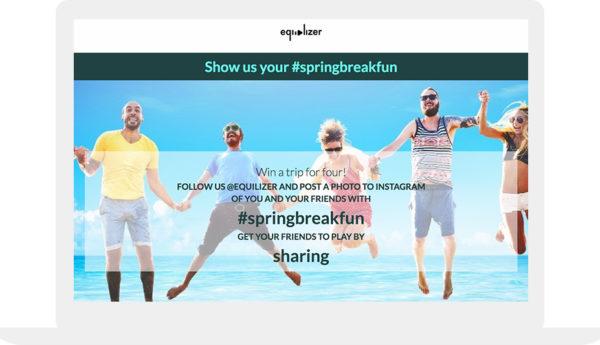Spring break hashtag contest