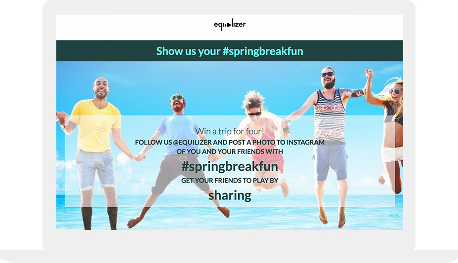 Spring break hashtag contest