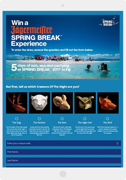 Jägermeister's Spring Break Experience giveaway
