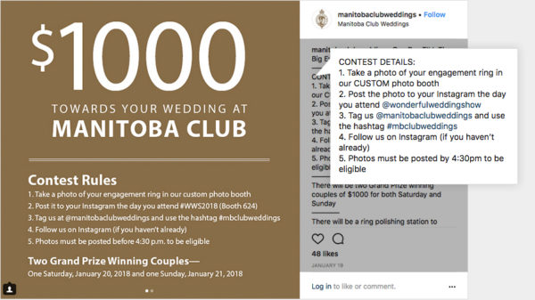 Manitoba Wedding Club asks users to post pictures of their engagement rings