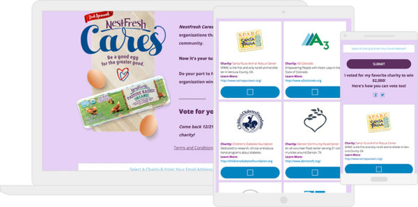 NestFresh Good Egg Charity contest