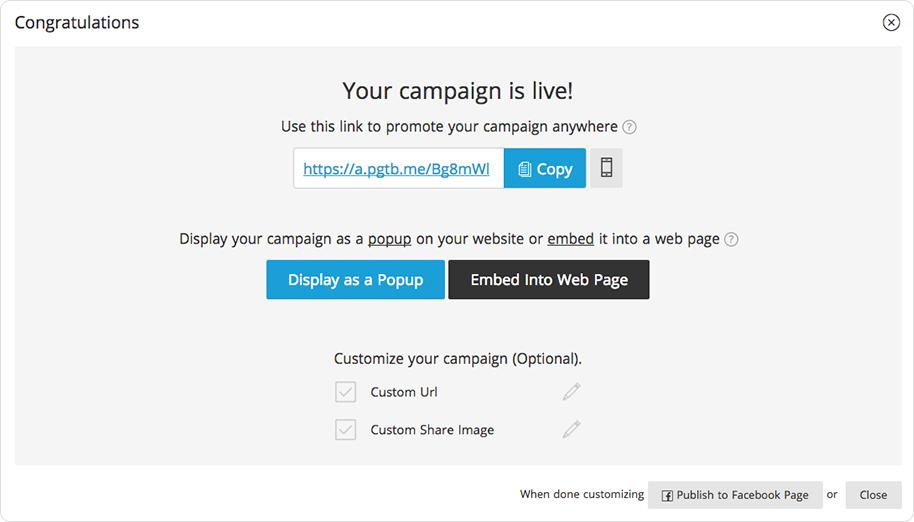 ShortStcak's publish campaign features