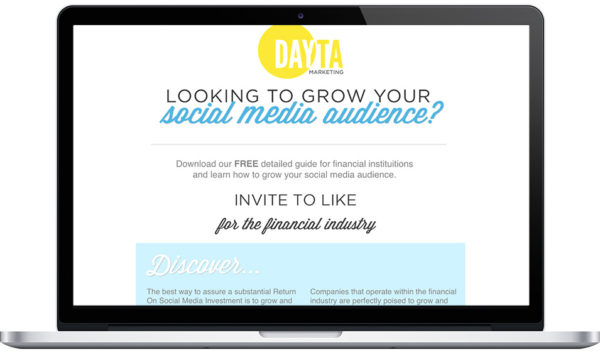 "Dayton Marketing's ""Grow Your Social Media Audience"" White Paper Download Campaign"