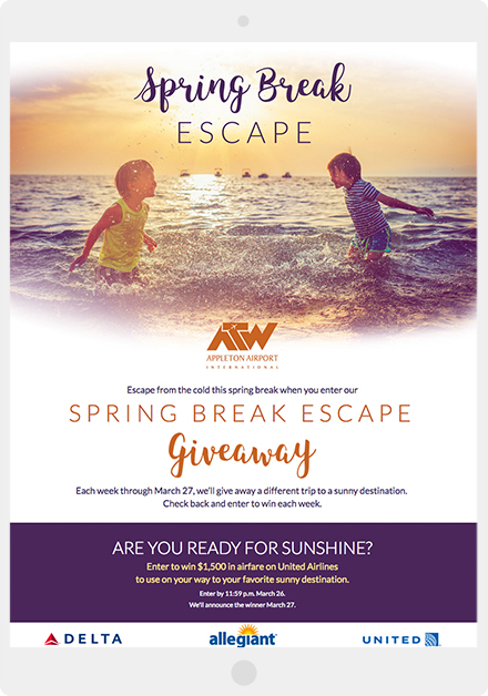 Appleton Airport Spring Break Giveaway