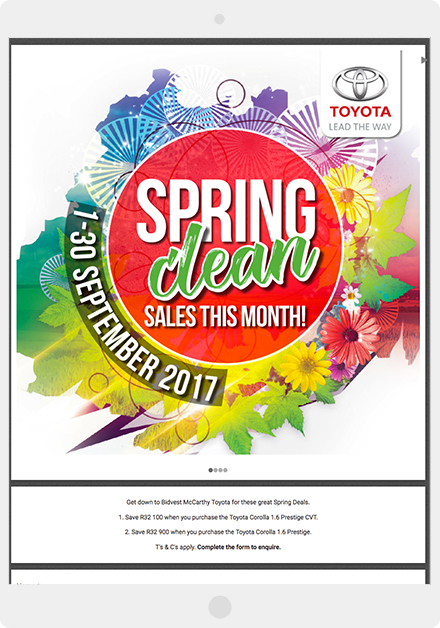 Toyota's Spring Clean giveaway