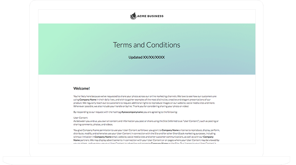 Terms and Conditions Template