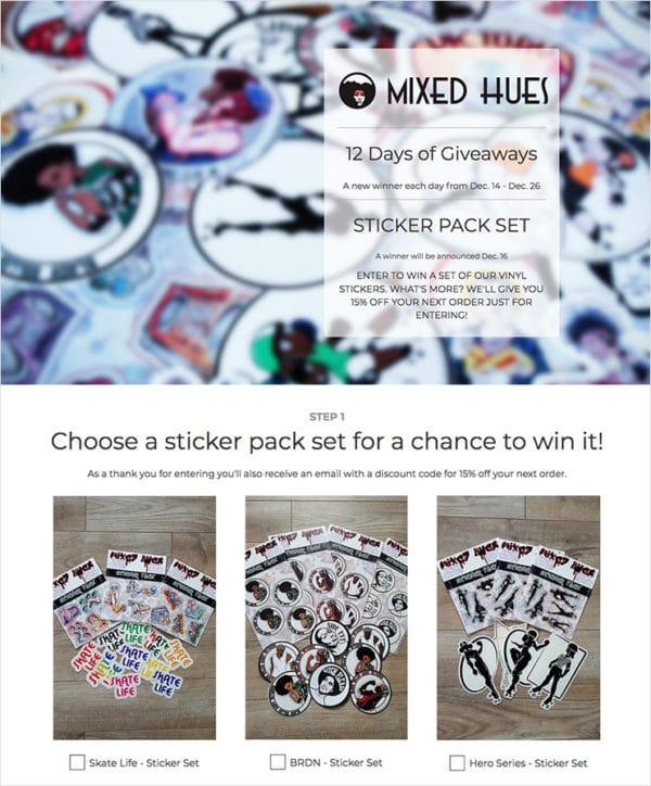 Mixed Hues giveaway built with ShortStack