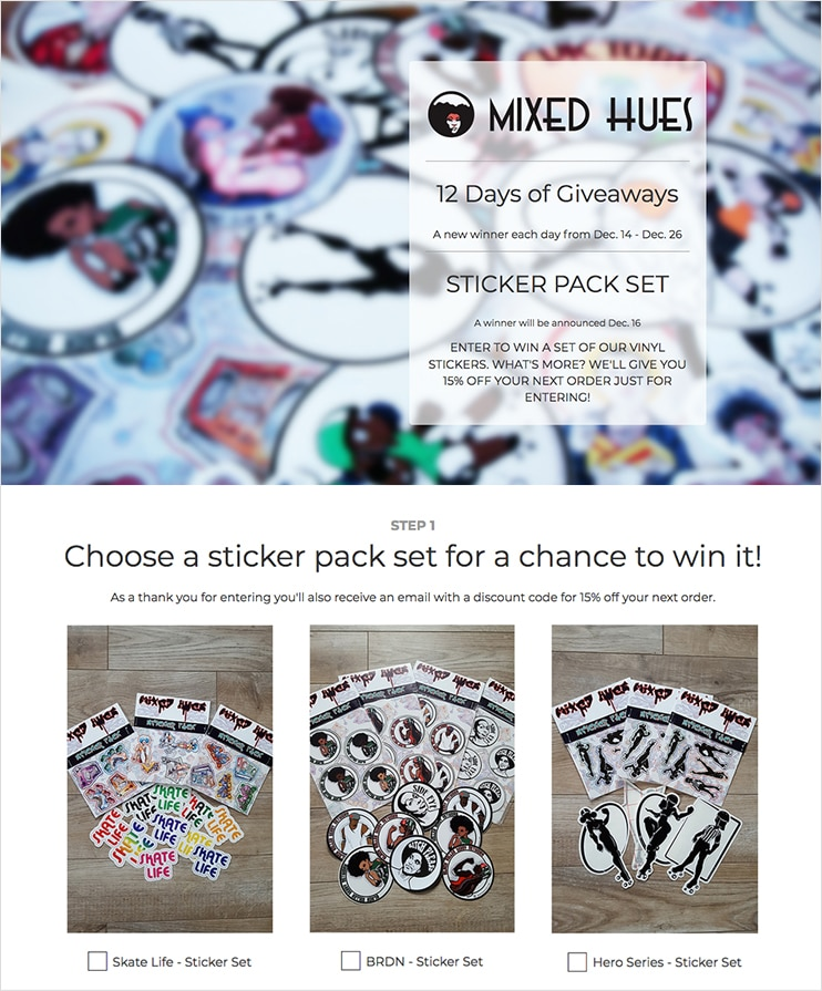 Mixed Hues giveaway built with ShortStack