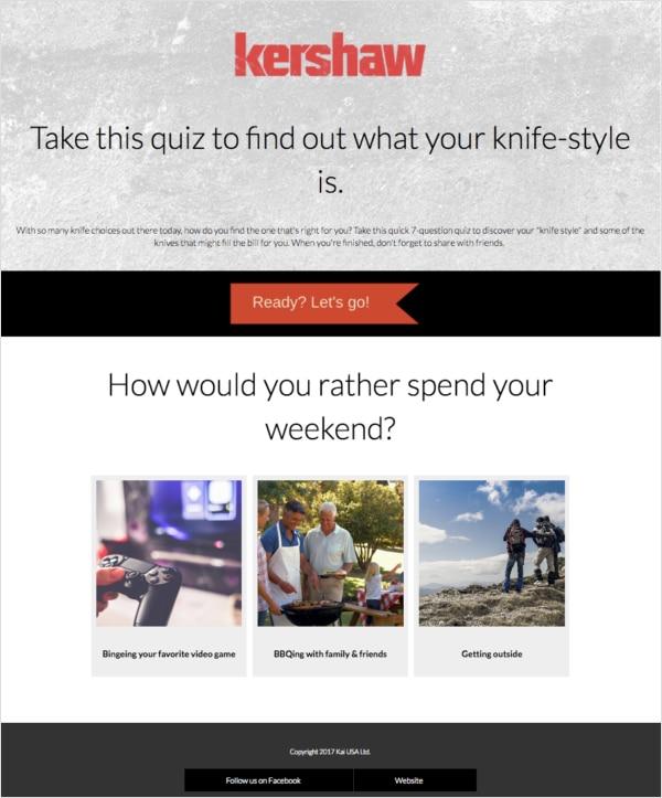Kershaw personality quiz