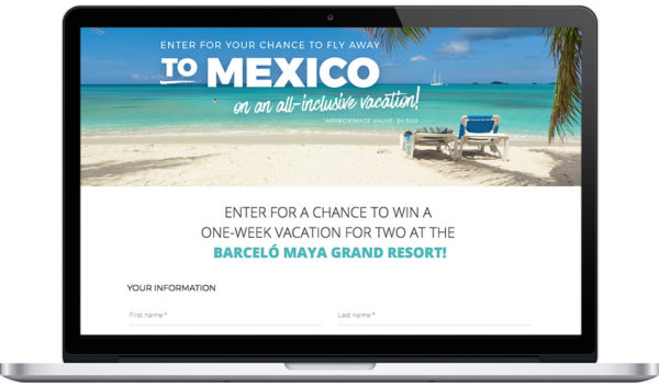 """Adrien Gagnon's """"Win a 1-week trip to Mexico"""" Contest with Refer-a-Friend bonus points"""