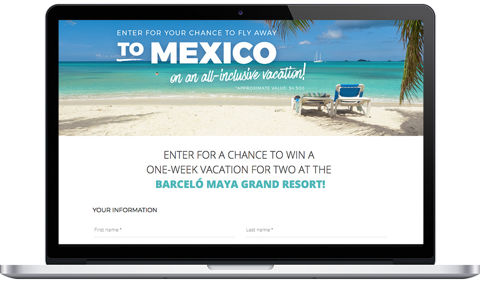 "Adrien Gagnon's ""Win a 1-week trip to Mexico"" Contest with Refer-a-Friend bonus points"