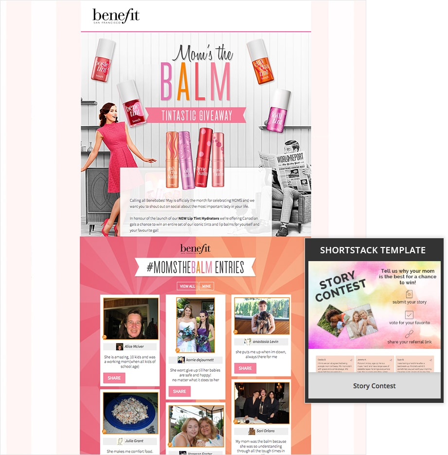 Mom's the Balm Contest by Benefit