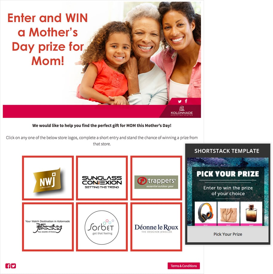 Mother's Day Pick Your Prize campaign