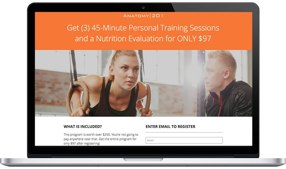 Anatomy 201's Personal Training Sessions and Nutrition Evaluation Discount Registration Form