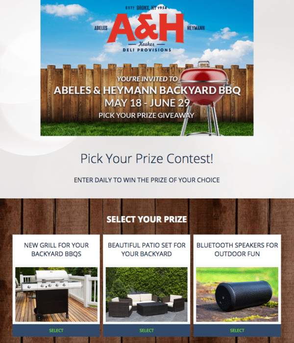 Contest Marketing Example - Backyard BBQ