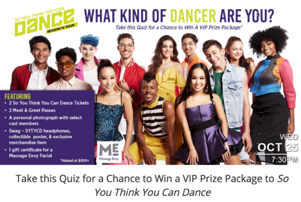 Contest Marketing Example - Dance