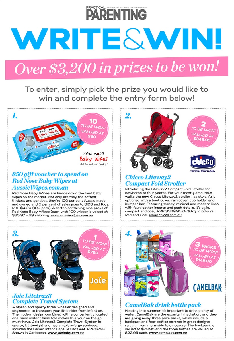 Practical Parenting's Pick a Prize contest