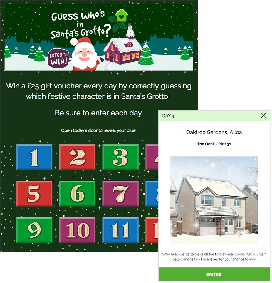 Multi-Day Giveaway Calendar - Santa's Grotto