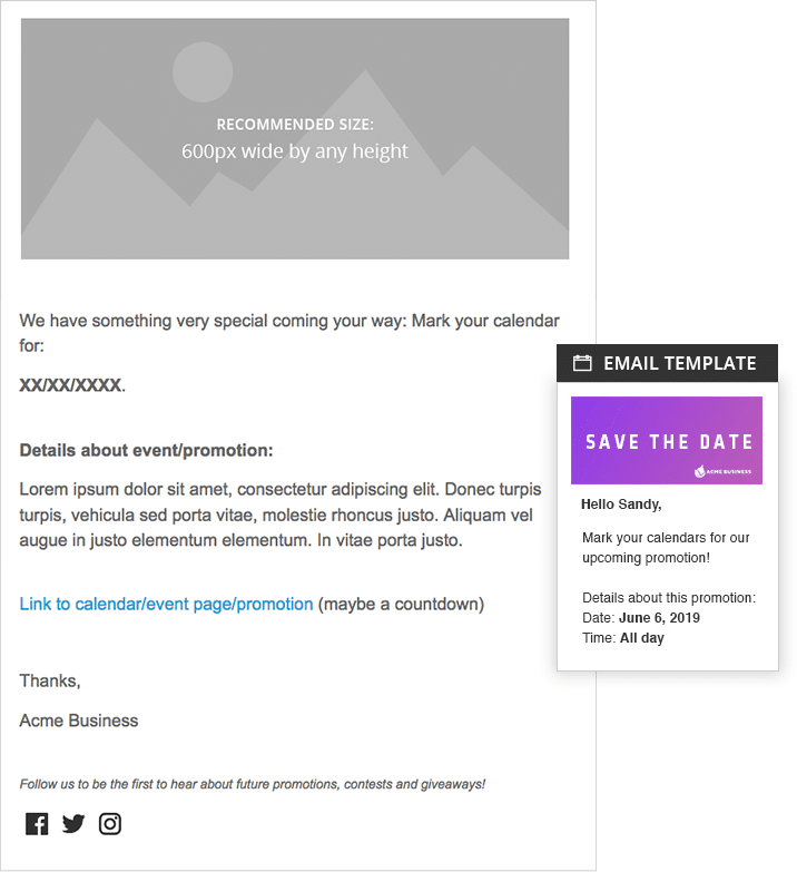 Save the date email template images template design ideas save the date email template shortstack june 6 2018 save the date email template maxwellsz flashek Choice Image