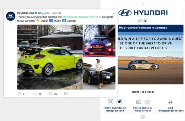 Hyundai Veloster contest created with ShortStack
