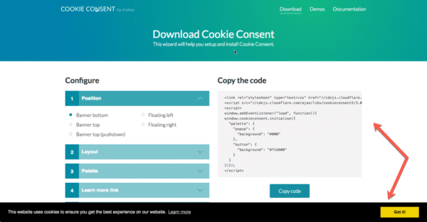 GDPR Lead Generation - Cookie Consent