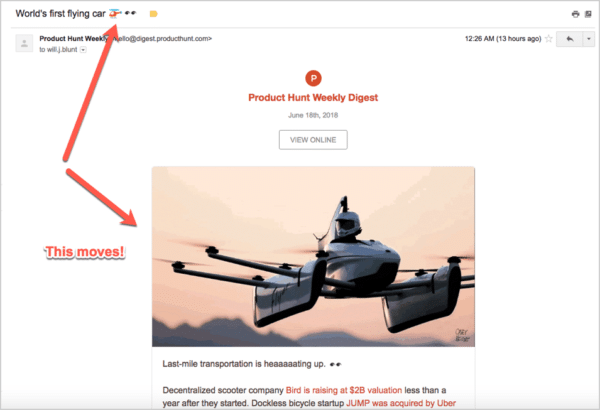 Social media and email marketing - Product Hunt