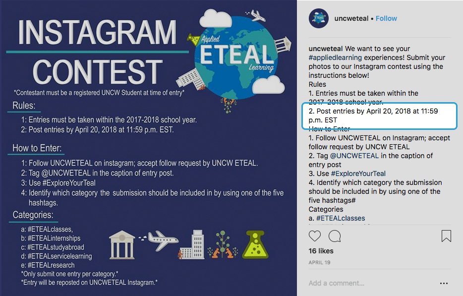 instagram giveaway copy