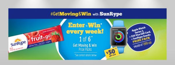 Get Moving and Win with SunRype