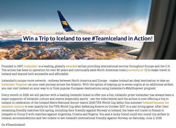 IcelandAir's Trip to Iceland