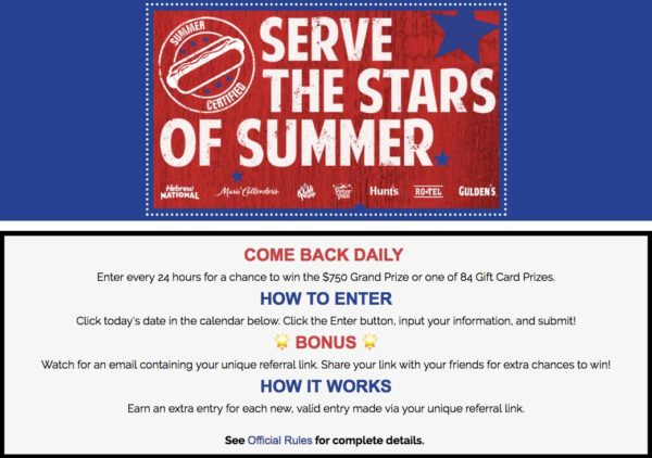 Serve the Stars of Summer Sweepstakes