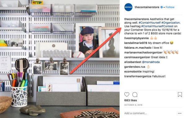 The Container Store #containyourselfcontest for hashtag contest